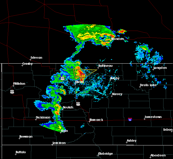 Radar Image for Severe Thunderstorms near Maxbass, ND at 9/20/2019 3:19 PM CDT