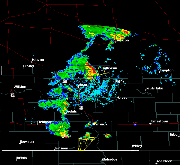 Radar Image for Severe Thunderstorms near Bottineau, ND at 9/20/2019 3:47 PM CDT