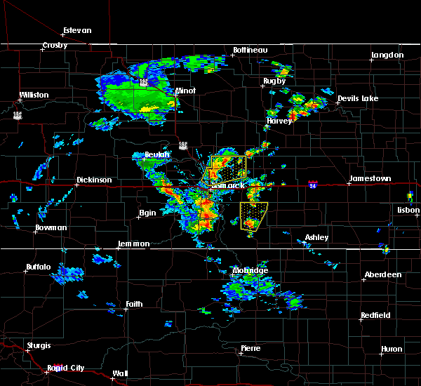 Radar Image for Severe Thunderstorms near Wing, ND at 9/20/2019 4:42 PM CDT