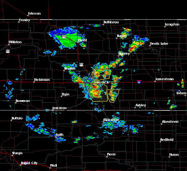 Radar Image for Severe Thunderstorms near Wing, ND at 9/20/2019 5:00 PM CDT