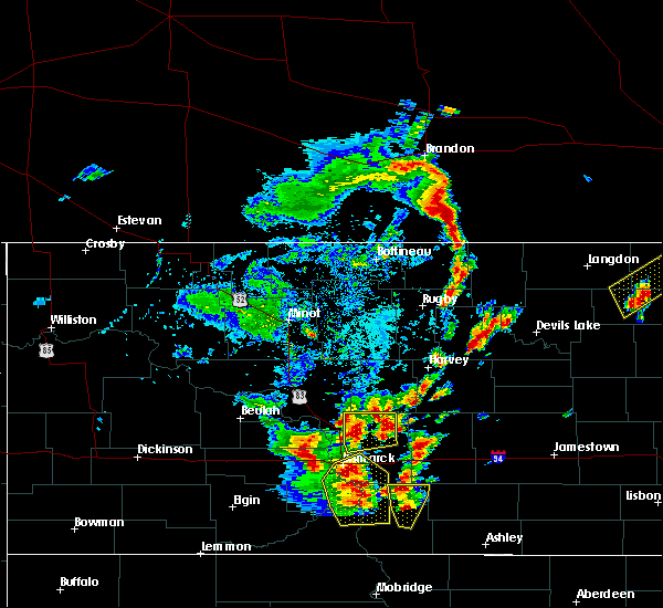 Radar Image for Severe Thunderstorms near York, ND at 9/20/2019 5:07 PM CDT