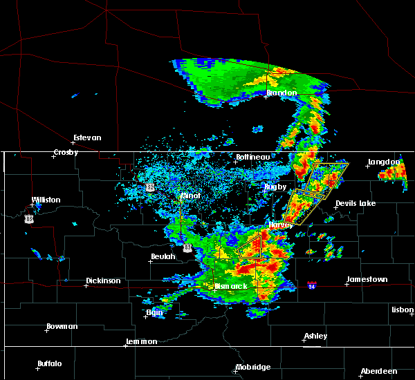 Radar Image for Severe Thunderstorms near Brinsmade, ND at 9/20/2019 5:56 PM CDT