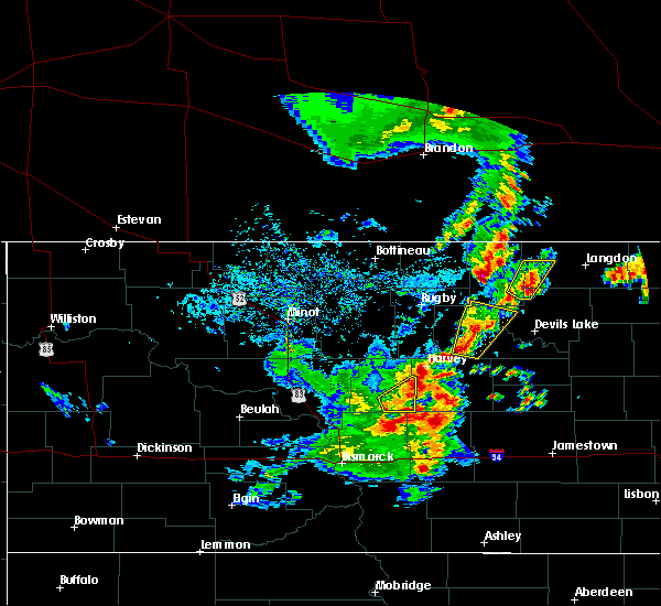 Radar Image for Severe Thunderstorms near Munich, ND at 9/20/2019 6:00 PM CDT