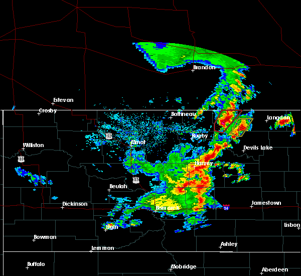 Radar Image for Severe Thunderstorms near Munich, ND at 9/20/2019 6:14 PM CDT