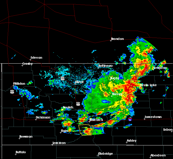 Radar Image for Severe Thunderstorms near Wales, ND at 9/20/2019 6:55 PM CDT