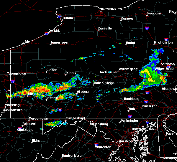 Radar Image for Severe Thunderstorms near Cherry Tree, PA at 6/23/2015 2:16 PM EDT