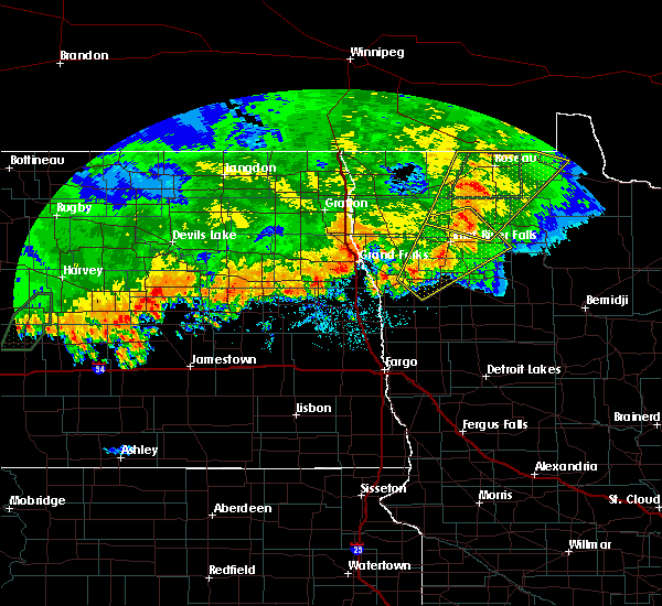 Radar Image for Severe Thunderstorms near Holt, MN at 9/20/2019 10:30 PM CDT