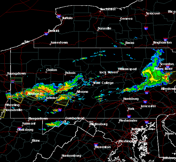 Radar Image for Severe Thunderstorms near Cherry Tree, PA at 6/23/2015 2:23 PM EDT