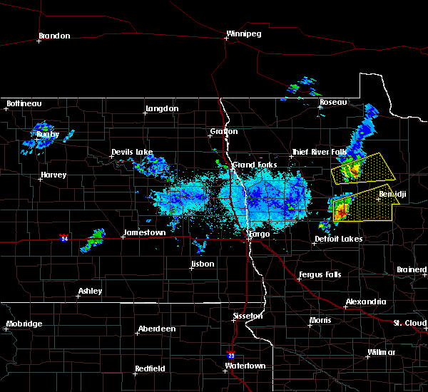 Radar Image for Severe Thunderstorms near Lake George, MN at 9/21/2019 7:10 PM CDT