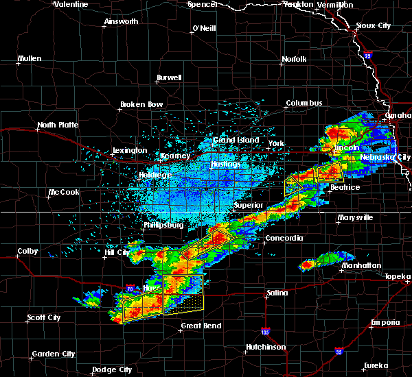 Radar Image for Severe Thunderstorms near Western, NE at 9/21/2019 7:57 PM CDT
