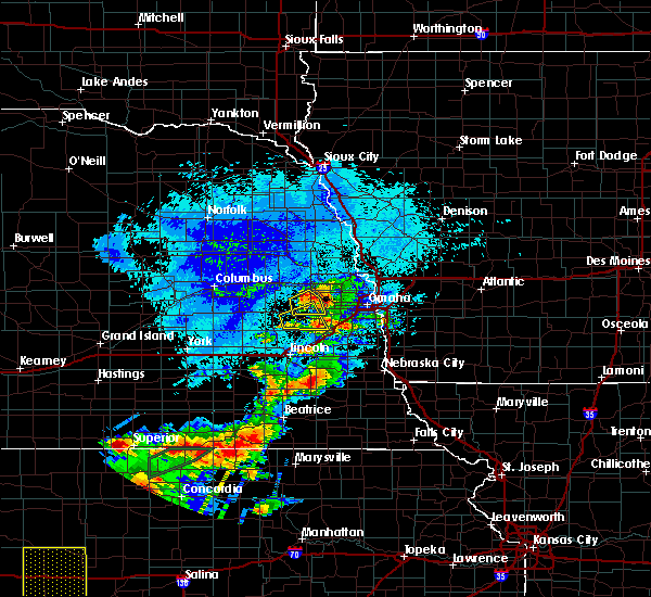 Radar Image for Severe Thunderstorms near Nickerson, NE at 9/21/2019 8:42 PM CDT