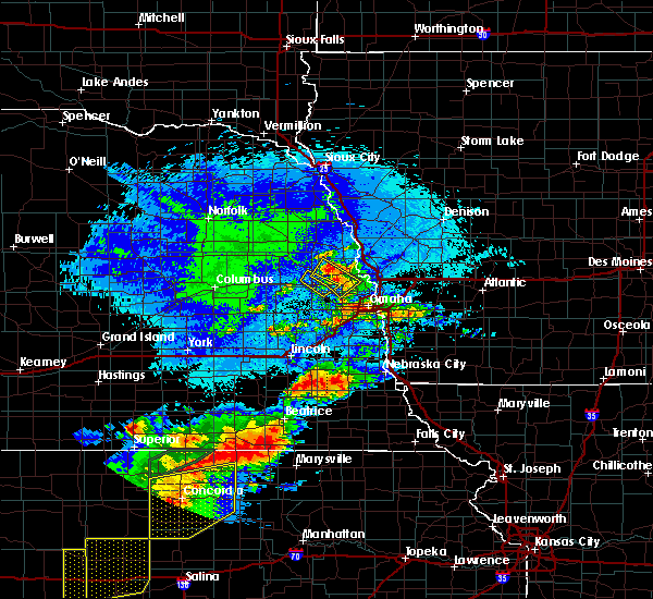 Radar Image for Severe Thunderstorms near California Junction, IA at 9/21/2019 9:13 PM CDT