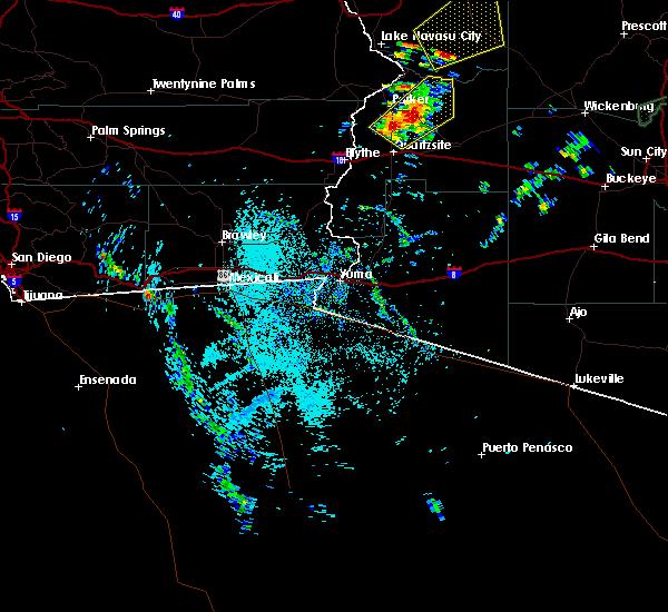 Radar Image for Severe Thunderstorms near Vicksburg, AZ at 9/23/2019 9:50 AM MST