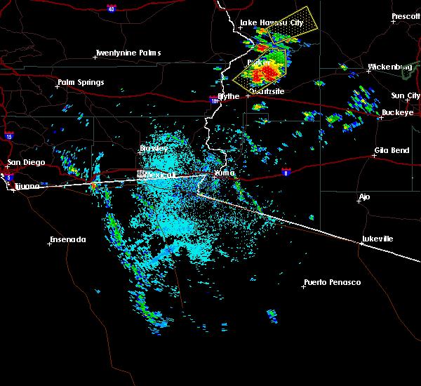 Radar Image for Severe Thunderstorms near Vicksburg, AZ at 9/23/2019 10:11 AM MST