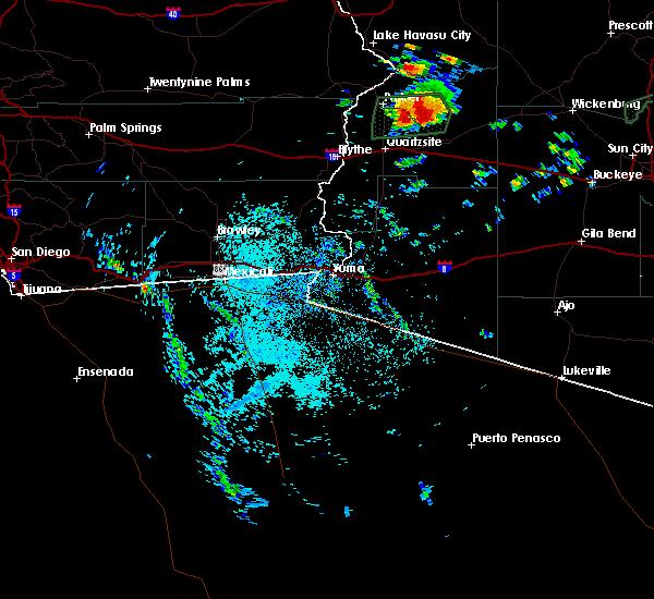 Radar Image for Severe Thunderstorms near Vicksburg, AZ at 9/23/2019 10:19 AM MST