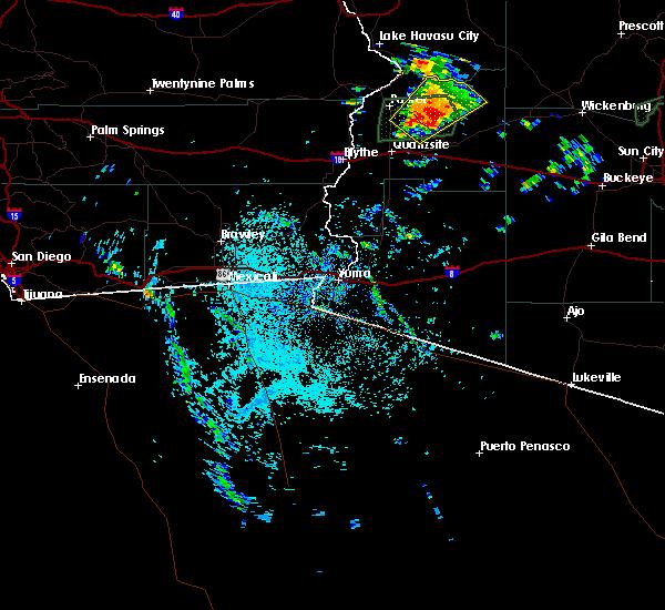 Radar Image for Severe Thunderstorms near Vicksburg, AZ at 9/23/2019 10:27 AM MST