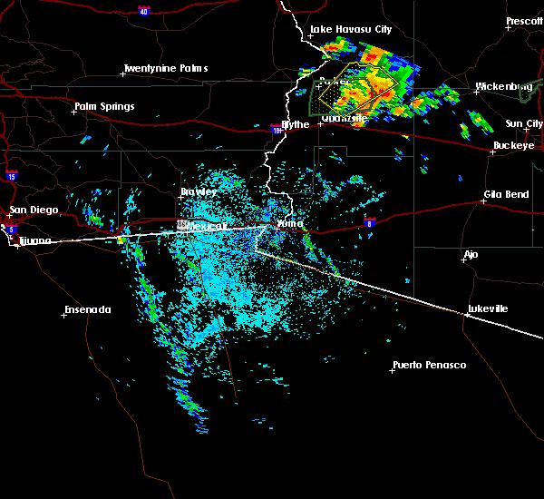 Radar Image for Severe Thunderstorms near Vicksburg, AZ at 9/23/2019 10:57 AM MST