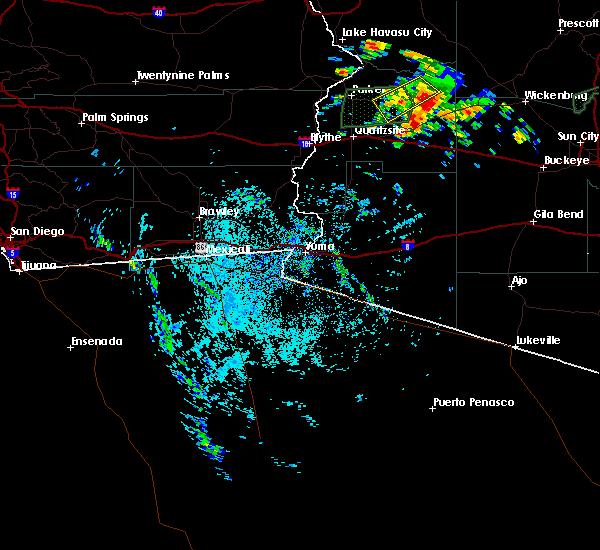 Radar Image for Severe Thunderstorms near Vicksburg, AZ at 9/23/2019 11:12 AM MST