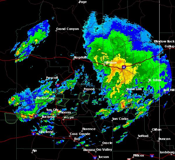 Radar Image for Severe Thunderstorms near Cedar Creek, AZ at 9/23/2019 4:34 PM MST