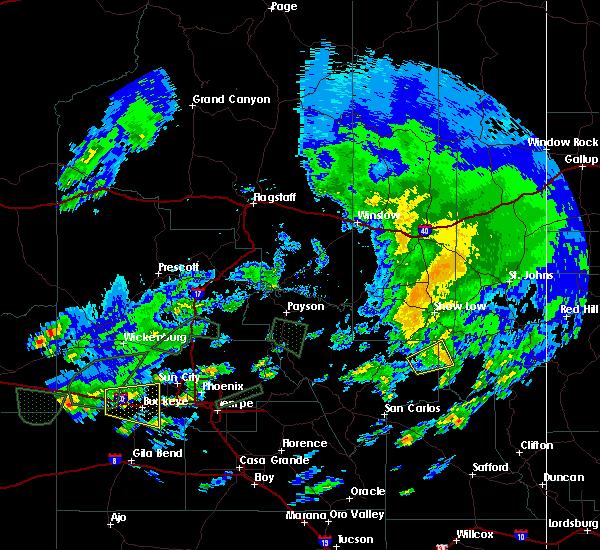 Radar Image for Severe Thunderstorms near Cedar Creek, AZ at 9/23/2019 4:57 PM MST
