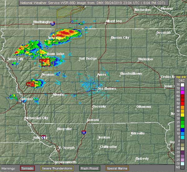 Radar Image for Severe Thunderstorms near Early, IA at 9/24/2019 6:09 PM CDT