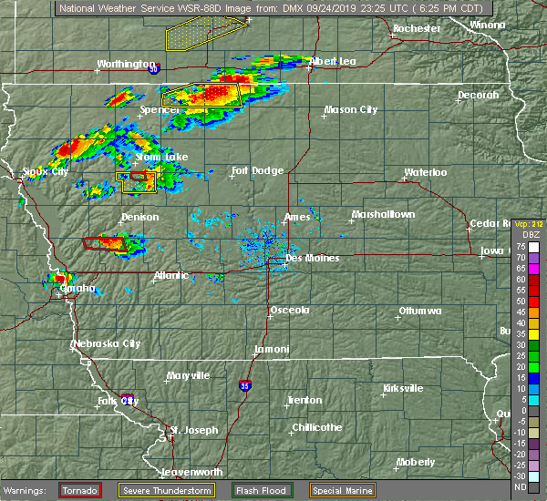 Radar Image for Severe Thunderstorms near Early, IA at 9/24/2019 6:29 PM CDT