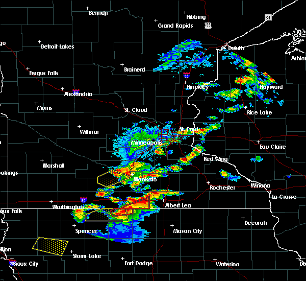 Radar Image for Severe Thunderstorms near Frost, MN at 9/24/2019 6:45 PM CDT