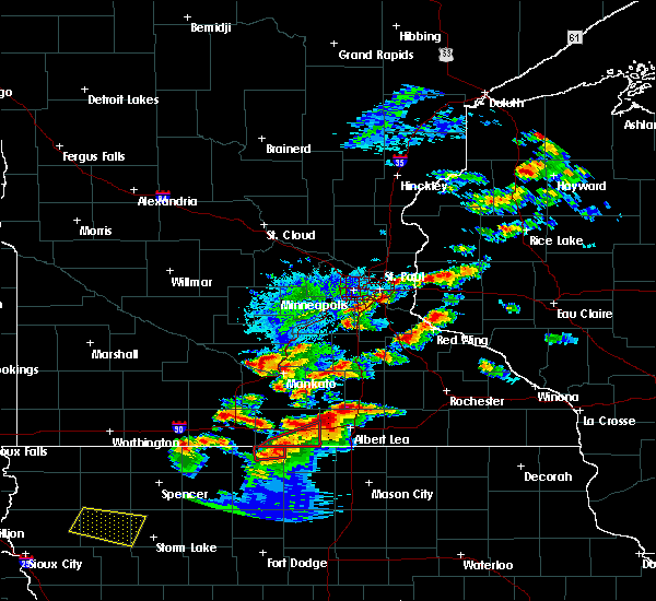 Radar Image for Severe Thunderstorms near Frost, MN at 9/24/2019 6:55 PM CDT