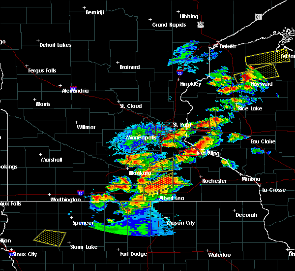 Radar Image for Severe Thunderstorms near Manchester, MN at 9/24/2019 7:09 PM CDT