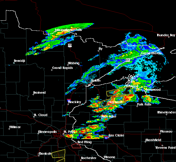Radar Image for Severe Thunderstorms near Clam Lake, WI at 9/24/2019 7:17 PM CDT