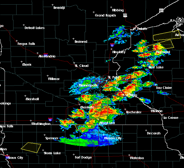 Radar Image for Severe Thunderstorms near Hayfield, MN at 9/24/2019 7:20 PM CDT