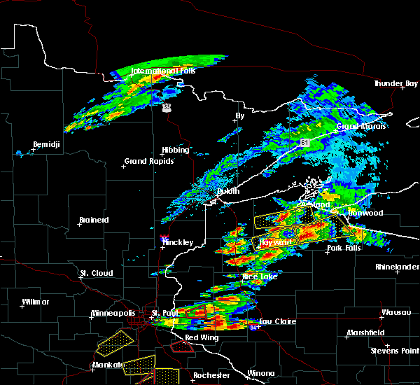 Radar Image for Severe Thunderstorms near Clam Lake, WI at 9/24/2019 7:20 PM CDT