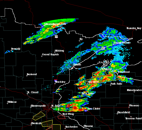 Radar Image for Severe Thunderstorms near Clam Lake, WI at 9/24/2019 7:28 PM CDT