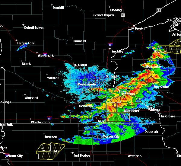 Radar Image for Severe Thunderstorms near Wanamingo, MN at 9/24/2019 7:51 PM CDT