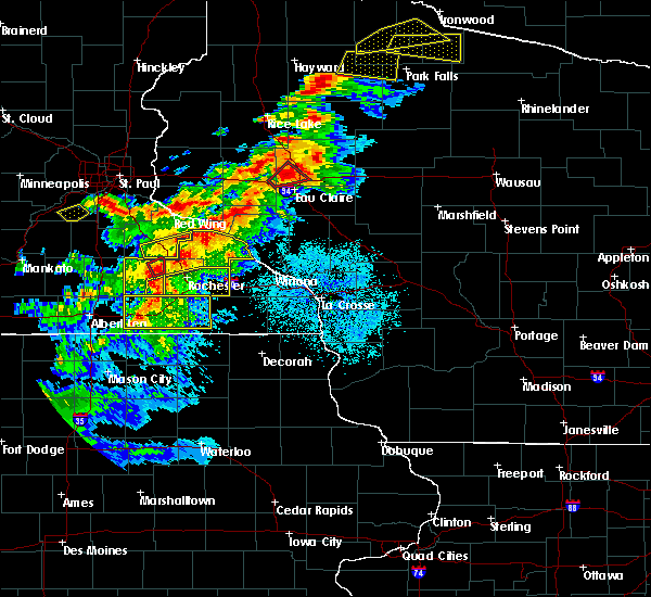 Radar Image for Severe Thunderstorms near Chippewa Falls, WI at 9/24/2019 8:02 PM CDT