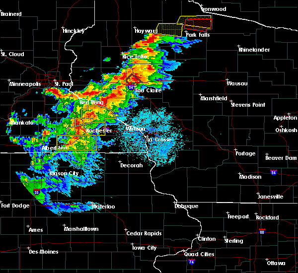 Radar Image for Severe Thunderstorms near Brownsdale, MN at 9/24/2019 8:07 PM CDT