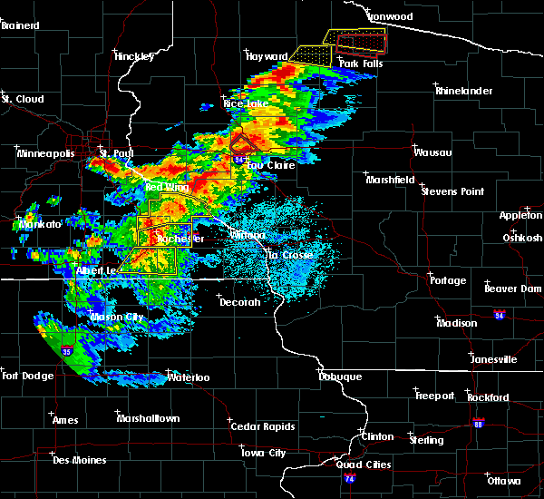 Radar Image for Severe Thunderstorms near Elgin, MN at 9/24/2019 8:17 PM CDT