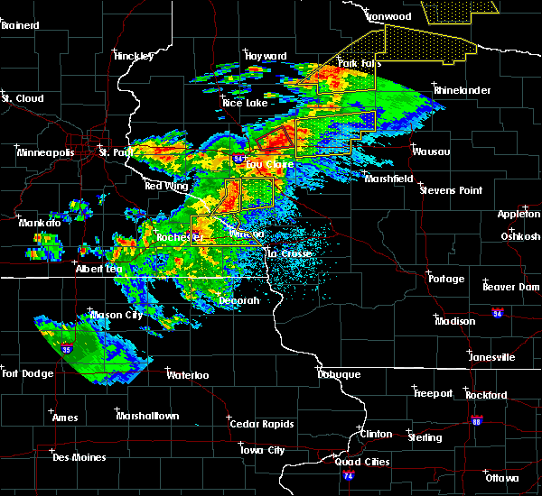 Radar Image for Severe Thunderstorms near Withee, WI at 9/24/2019 8:50 PM CDT