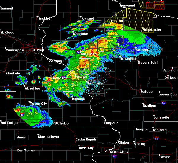 Radar Image for Severe Thunderstorms near Augusta, WI at 9/24/2019 9:02 PM CDT