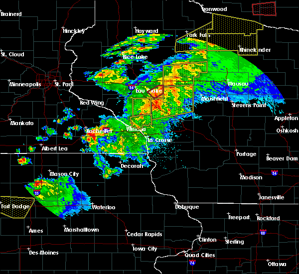 Radar Image for Severe Thunderstorms near Withee, WI at 9/24/2019 9:15 PM CDT