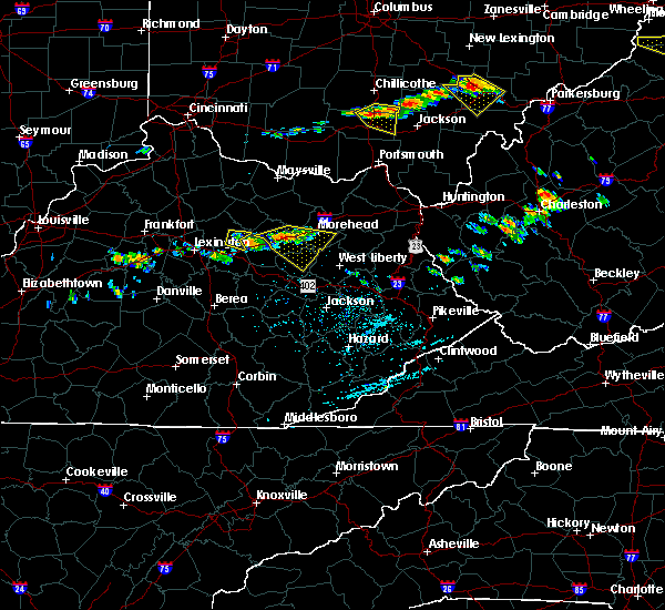 Radar Image for Severe Thunderstorms near Morehead, KY at 6/23/2015 3:23 PM EDT