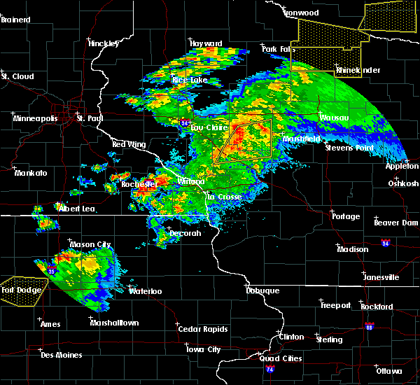 Radar Image for Severe Thunderstorms near Loyal, WI at 9/24/2019 9:23 PM CDT