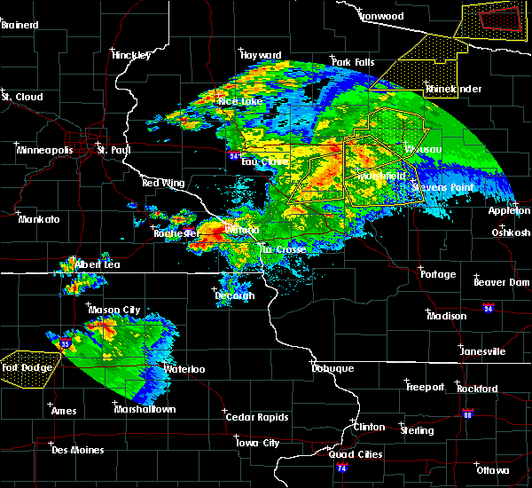 Radar Image for Severe Thunderstorms near Loyal, WI at 9/24/2019 9:44 PM CDT
