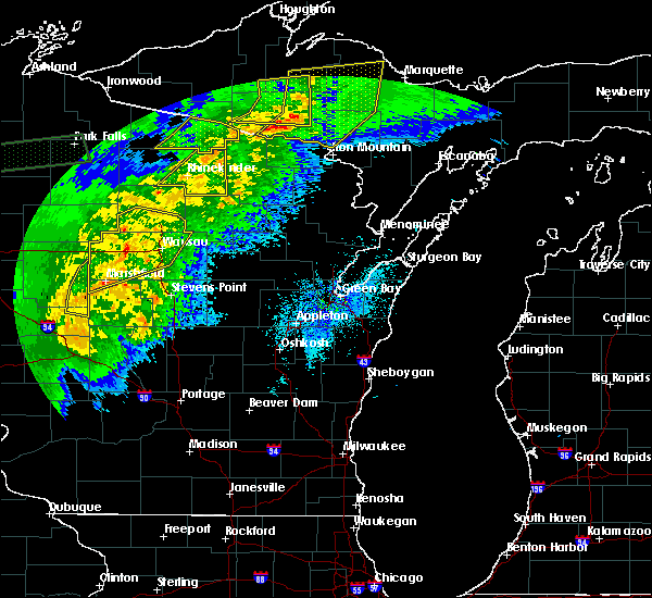 Radar Image for Severe Thunderstorms near Merrill, WI at 9/24/2019 10:04 PM CDT