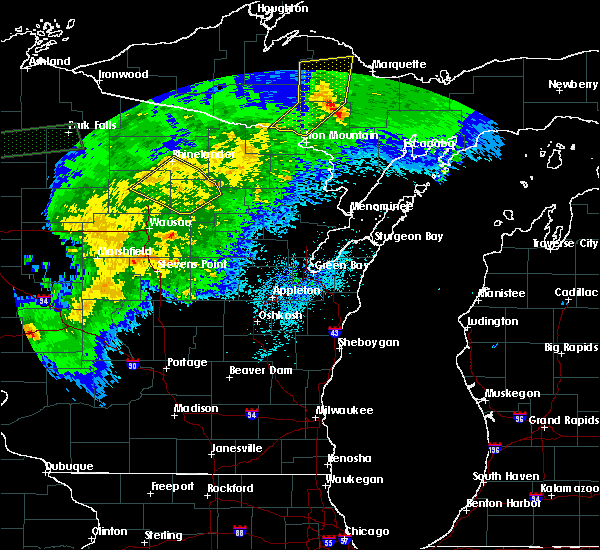Radar Image for Severe Thunderstorms near Summit Lake, WI at 9/24/2019 10:46 PM CDT