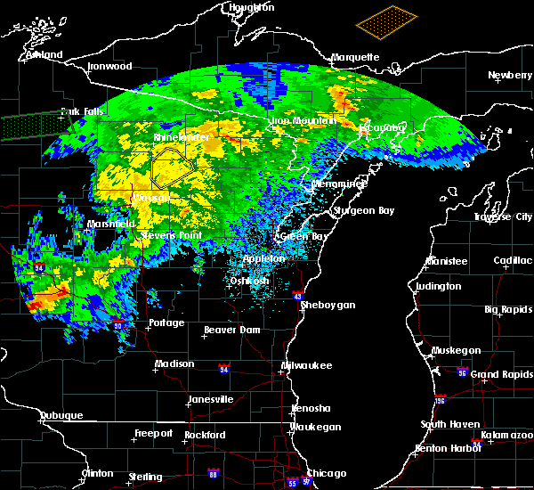 Radar Image for Severe Thunderstorms near Summit Lake, WI at 9/24/2019 11:09 PM CDT