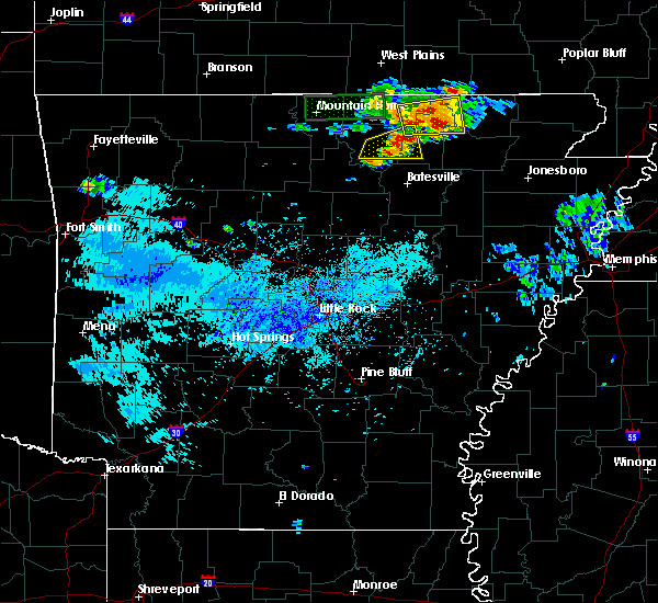 Radar Image for Severe Thunderstorms near Melbourne, AR at 9/25/2019 3:41 PM CDT
