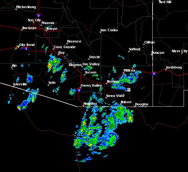 Radar Image for Severe Thunderstorms near Douglas, AZ at 9/25/2019 5:39 PM MST