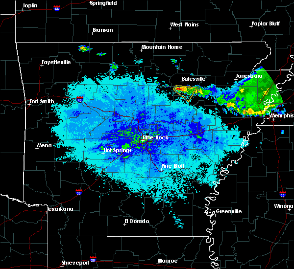 Radar Image for Severe Thunderstorms near Pleasant Plains, AR at 9/25/2019 8:17 PM CDT