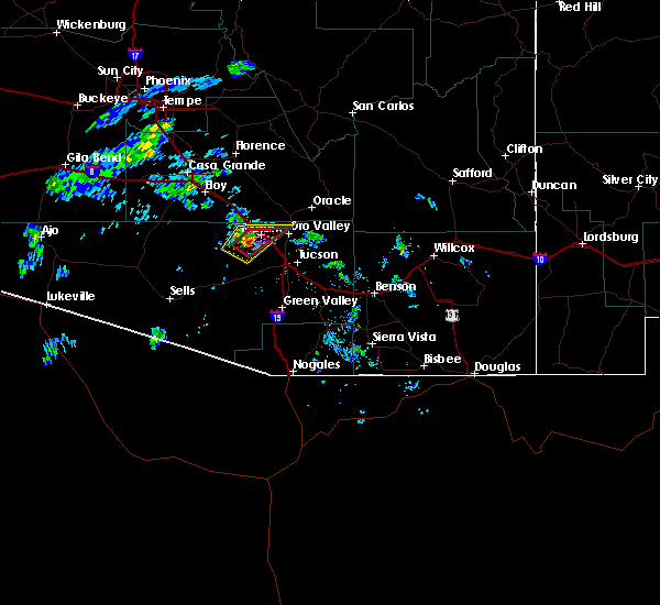 Radar Image for Severe Thunderstorms near Marana, AZ at 9/26/2019 3:44 PM MST